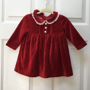 Rachel Riley Diffusion 6m red velvet dress